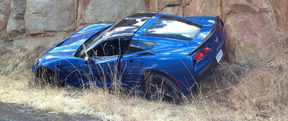 First 2014 Corvette Stingray wreck
