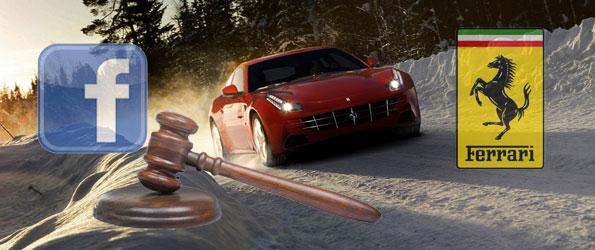 Ferrari poursuit une jeunne pour essayer de prendre contrôle de sa page Facebook