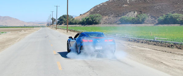 Testing the new Vette Stingray