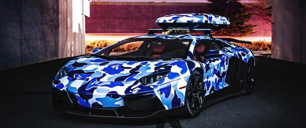 Lambo Aventador prêt pour l'hiver!